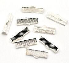 100 Fermoirs griffe Pour Ruban Forme Serviette Bijoux Accessoire 20x8mm