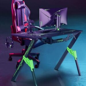 Pro Gaming Desk Gaming Computer Table w/ Game Handle Stand Cup Holder Mouse Pad