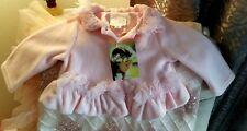 NWT BISCOTTI by Kate Mack BABY GIRLS fancy PINK FLEECE COAT JACKET size 24mo