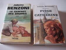 Lot de 2 livres Juliette Benzoni Piège pour Catherine & Le gerfaut des brumes