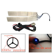 12V Universal Car Steering Wheel Heater Kit Heated Carbon Fiber Pad w/ Switch 1x