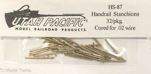 Utah Pacific HO #87 Handrail Stanchions 32/pkg. (Brass Castings) Made in USA