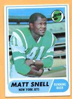 1968 Topps Football #117A Matt Snell (EX) -- New York Jets