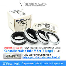 ⭐SERVICED⭐ CANON FD Macro Extension Ring Tube M Set 5mm+10mm+20mm BOXED[GRADE A]