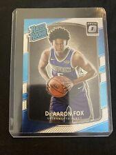 De'aaron Fox Optic Donruss Rated Rookie Silver/Teal