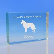 More details for  belgian shepherd dog lover gift personalised hand engraved paperweight gift