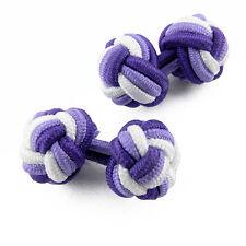 Boutons de manchette Violet tissu passementerie tressée - Purple fabric cuffinks