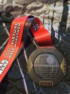 Disney 2021 RunDisney Star Wars Virtual Half Marathon Medal 13.1 Death Star