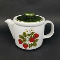 Vintage McCoy Pottery Strawberry Country Teapot Rustic Farmhouse Decor