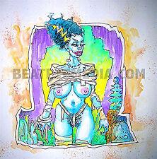 XNO- ORIG ART-FRANKENSTEIN,COMIC,MONSTER,VAMPIRE,COMIC ART,LUGOSI,HORROR,PIN UP