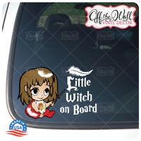 "Baby Hermione""Little Witch on Board"" Sign Vinyl Sticker"