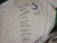 Leeds United 1972 FA Cup Final Shirt Signed x 9 Players All Inscribed 'MOT'