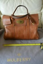 Mulberry Bayswater oak tan leather Heritage handbag with grey dustbag