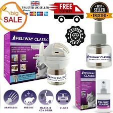 More details for feliway classic plug in diffuser+refill+spray calm cat stress relief pheromone