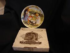 """Knowles """"Office Hours"""" Collector's Plate - """"Friends I Remember Series"""" Box & Coa"""