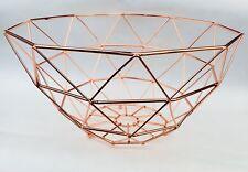 *NEW* Geometric Copper /Rose Gold wire Fruit Basket Metal Decorative Trendy Bowl