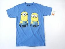 DESPICABLE ME 2 MINIONS ART FUNNY CARTOON MOVIE BLUE SMALL SOFT TSHIRT MENS NWT
