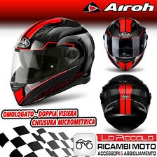 CASCO INTEGRALE AIROH MOVEMENT S FASTER ROSSO RED GLOSS LUCIDO TG. L