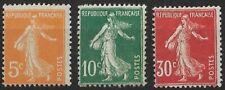 FRANCE - TYPE SEMEUSE N° 158 à N° 160 NEUF *