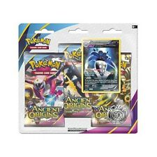 Pokemon XY7 Ancient Origins 3 Pack Double Blister Featuring Malamar Promo & Coin