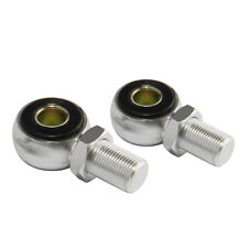 2 PCS Silver Motor ATV Quad Motorcycle Shock Absorber Round Hole Ends Adapters