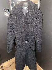 TOPSHOP Black Teddy Coat UK 10