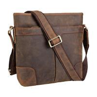 Men Vintage Leather Shoulder Messenger Bag Office Business Crossbody Bag Satchel