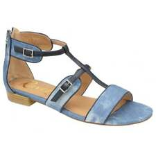 Ravel Denim Ritzville Simple Cheap Dress Flat T-Bar Roman Gladiator Sandals UK 5