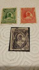 3 stamps  FRANCOBOLLI NIGERKUSTE NIGER COAST NIGERIA  1893