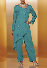 plus sz 18W Beaded Designer Lily Pant Suit wedding formal party by Ashro new