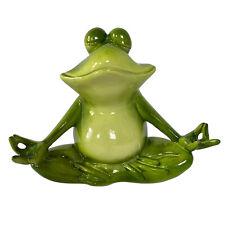 Dekofiguren süßer Yoga Frosch - Garten Deko Gartenteich groß Tiere Frösche