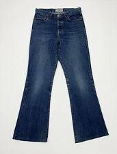 Reverse jeans donna usato bootcut a zampa flared vintage W28 tg 42 blu T5546