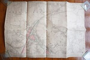 1904 Hereford All Saints GWR OS Railway Linen Map
