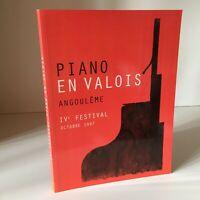 Programa Ive Festival Angoulême Piano En Valois Octubre 1997