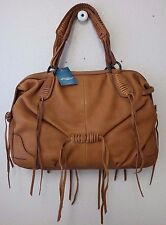 Lucky Brand Jordana Leather Satchel bag Saddle Brown HKW0024 NWT