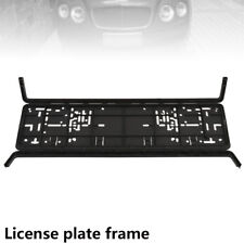 European Black Number Plate Holder Licence Plate Surround Frame ABS PC O2