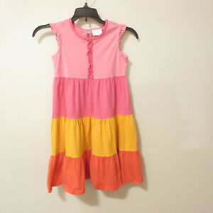 Hanna Andersson Girls Dress Twirl Tiered Sleeveless Multicolor Size 120cm / 6X-7