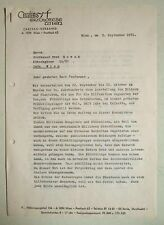 Fritz Wotruba und Prälat Ungar – ein zweiseitiger Autograph 1971 an Fred Nowak