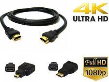 1.5m HDMI to HDMI Mini hdmi micro hdmi Cable v2.0 Gold HDTV  HD 2160p 4K@60hz