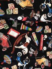 Where The Toys Are By Dan Morris for RJR Fabrics  -  Black Toys