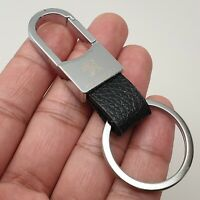 Peugeot Laser Engraved Metal Leather Keyring Key Ring Chain Fob With Gift Box