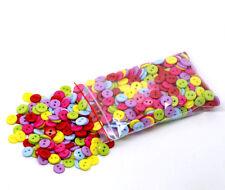 lot de 50 bouton scrapbooking 2 trou unis multi-couleurs mercerie couture 9 mm