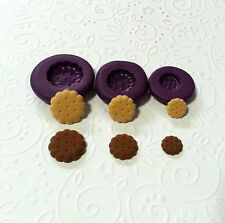 Silicone Molds Miniature Round Biscuit (9-13mm) Jewelry Fake Food Dollhouse