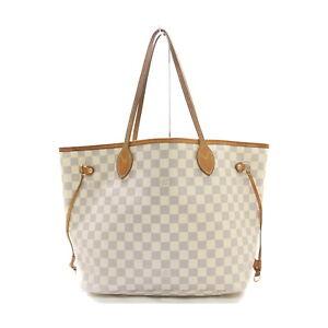 Louis Vuitton LV Tote Bag Neverfull MM Azur N51107 White Azur 1418720