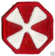 US ARMY 8TH ARMY PATCH - FULL COLOR