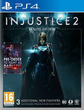 Injustice 2: Deluxe Edition PS4 PlayStation 4 Game inc Darkseid & BONUS DLC