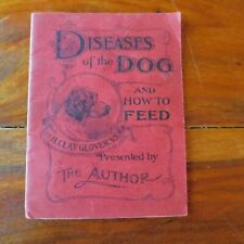 ANTIQUE 1897 DISEASES of the DOG by H. CLAY GLOVER BOOKLET / VETERINARY MEDICINE