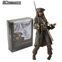 Pirates the Caribbean Captain Jack Sparrow PVC Action Figure Collectible Model