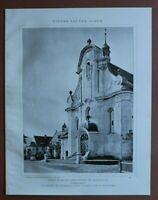 WBe) Architektur Raspenau 1907-1910 Jubiläum Pfarrkirche vorne Tschechien 24x31