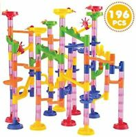 JOYIN 196 Pcs Marble Run Compact Set, Construction Building Blocks Toys Vacation